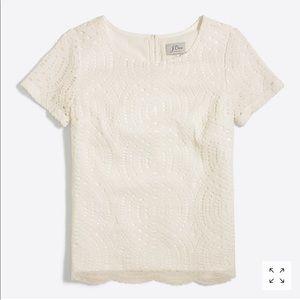 Jcrew lace T-shirt